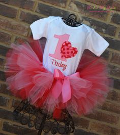 Valentine Sweetheart Birthday Tutu Outfit by TickleMyTutu on Etsy, $49.95