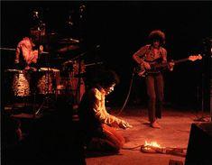 Jimi Hendrix, Monterey Pop, CA 1967  © JERRY DE WILDE. The famous guitar burning.