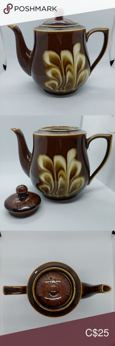 Vintage Brown Glazed Teapot, Mid-Century, China This is a brown glazed teapot from mid-century China; a classic luster teapot. Elegant white glaze design.  Approx 5cup teapot.  17cm tall 20cm from spout tip to handle  Excellent used condition.  Smoke and pet-free home. Vintage Kitchen Coffee & Tea Accessories Coffee And Tea Accessories, Luster, Vintage Kitchen, Teapot, Glaze, Mid Century, Handle, China, Smoke