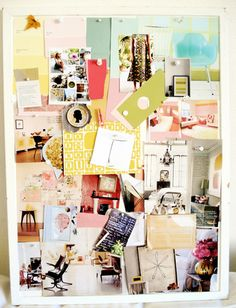 Inspiration On A Board Wall Creative Moodboard Mood Boards
