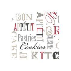 """Fresh Kitchens V 32.7' x 20.5"""" Kitchen Script Wallpaper"""