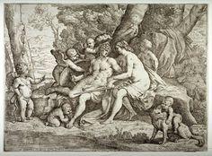 Venus, Mars and Cupid  Engraver:  Fabrizio Chiari  After:  Nicolas Poussin  Date:  1635  Location:  Not on display  Century:  17th Century AD
