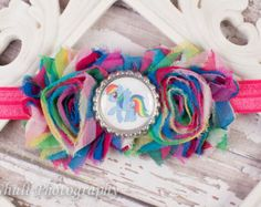 My Little Pony inspired Headband-Rainbow Dash Headband-Headband-Girls Birthday Headband- Party Headband-Little Girl Headband-Hairbow