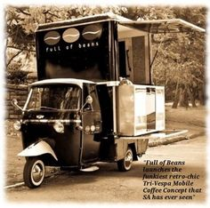 mobile coffee shop in South Africa! AWESOMENESS!!! Vespa