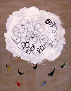 Joan Miró, Nuage et Oiseaux (Cloud and Birds) 1927 on ArtStack #joan-miro #art