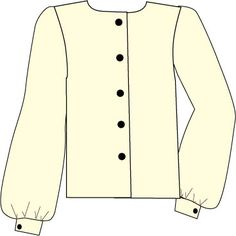 basic blouse with bishop's sleeve