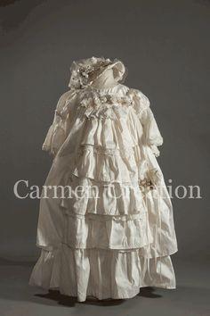 Vintage heirloom christening gown $275.00 Etsy listing at https://www.etsy.com/listing/109562132/vintage-christening-dress-victorian