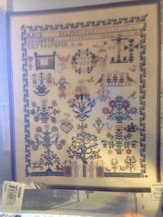 Permin Sampler Celle 1808 Cross Stitch Sampler Pattern Adam Eve Stickmuster #PerminofCopenhagen