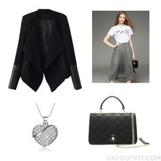 Wardrobe Tip Featuring Relaxfeel Jacket Long Pleated Skirt Shoulder Bag And Party Jewelry From February 2016 February 2016, Jewelry Party, Pleated Skirt, Shoulder Bag, Skirts, Jackets, Bags, Outfits, Clothes