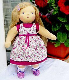 Waldorf doll  Fascination 2  13 14 inches custom by FavoriteDolls