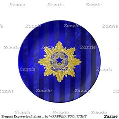 Elegant Expression Italian Republic Dinner Plate
