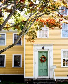 New England Home in Fall