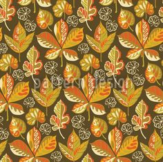 Golden Leaves Evening created by Irina Arnautu offered as a vector file on patterndesigns.com