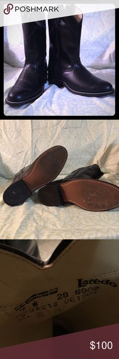 Western Roper Boots Awesome Western Roper Boots with 1 1/4 inch heel worn once soles and entire boots in excellent condition no  scuffs or marks Laredo Shoes Heeled Boots