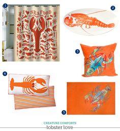 Beach Decor: Lobsters!