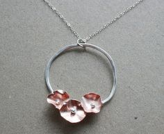 Simple but lovely  Bloom Necklace by oliverjewelry on Etsy, $120.00