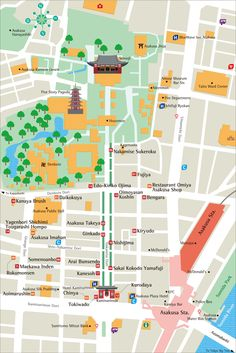 Tokyo Maps - Collection of Various Districts to Download and Print