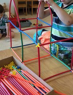 Green Play, Amusement Park, Straws, Fine Motor, Activities For Kids, Dan, Lego, School, Crafts