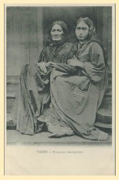 Vintage Cards, Vintage Postcards, Native American Teepee, Tahiti Nui, Hawaiian Woman, Polynesian Men, Society Islands, Human Reference, Paul Gauguin