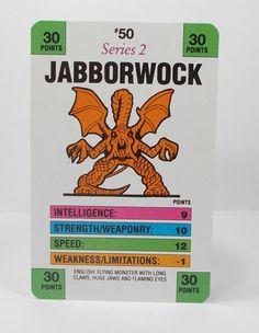 Monster In My Pocket Series 2 - 50 Jabborwock Battle Card Matchbox M.I.M.P.