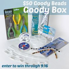 $50 Goody Beads Goody Box Giveaway at www.happyhourprojects.com