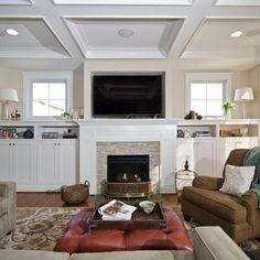 Fireplace Built In Shelves Design Ideas, Pictures, Remodel, and Decor - page 14