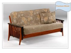 Full Size Aurora Premium Wood Futon Bed Package by Night & Day