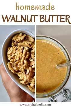 How to make walnut butter with just ONE ingredient: raw, soaked, or roasted walnuts – and a high-speed food processor. This nutritious silky smooth nut butter is perfect for spreading, adding to baked goods, or even as an edible gift! Best of all, this homemade walnut butter is oil-free, refined-sugar-free, gluten-free, Paleo, and Whole30!