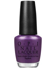 OPI Nail Lacquer in Purple with a Purpose is a dark and mysterious plum polish — perfect complement to your night out look.