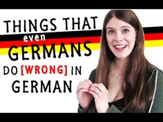 Learn German online with videos: Things even GERMANS do WRONG in GERMAN