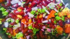 MY FOOD ART: THE HEARTY KIDNEY BEANS SALAD.......