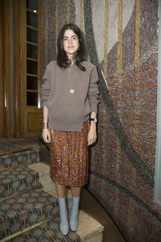 Leandra Medine during Paris Fashion Week wearing Alexander Lewis AW16 - BUY this LEANDRA sweater at www.alexanderlewis.eu