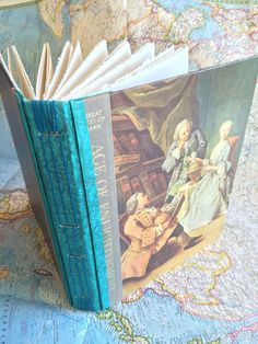 Hardback Art Journal: Age of Enlightenment made with hand-torn watercolor paper for Mixed-Media or Sketching by tangiebaxter on Etsy