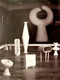 Isamu Noguchi Installation view of his solo exhibition at Mitsukoshi Department Store Tokyo 1950
