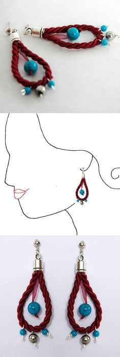 Handmade earrings. unique piece.  online shop at dawanda coming soon  See more at www.caixademistos.com