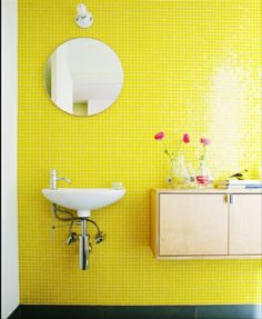 Bathroom And Bathroom Tiles Colors Yellow
