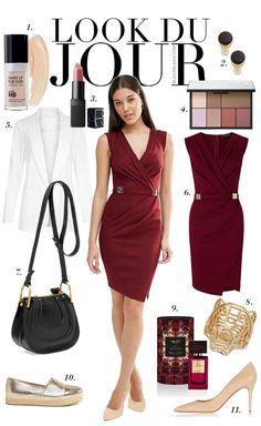 Look Du Jour: DRESSur!. Dark dress+nude pumps or golden espadrilles+white blazer+black shoulder bag. Summer night outfit 2016