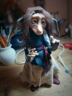 CUSTOM Medium OOAK Fantasy Fae Poseable Art Doll by FaunleyFae