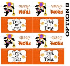 Personalized Halloween Treat Bag Topper -DIY Printable - Print all you need! C5