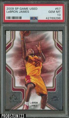 2009 SP Game Used #57 Lebron James Cleveland Cavaliers PSA 10 #LeBronJames #PSA10 #sportscards