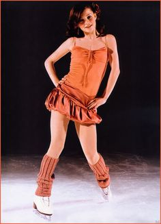 Sasha Cohen- love watching her skate.   And I like the dress :)
