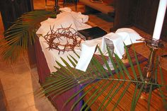 Palm Sunday altar