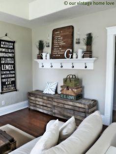 DIY Wood Living Room Decor Ideas Tags: Diy Rustic Decor, Home Decor Dyi, Hone Decor Ideas, Rustic Farmhouse Decor, Rustic Kitchen Wall Decor, Entryway Wall Decor, Rustic Living Room Decor, Home Decor Country, Farmhouse Wall Art