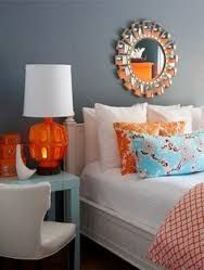 Bildergebnis für blue orange room