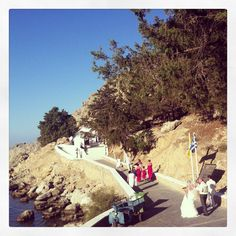 Wedding ceremony at St.Paul's bay,Rhodes