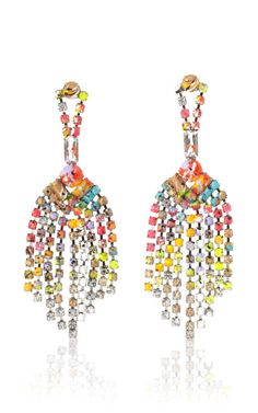 A Riot (Of Colour) Tassel Earrings by Tom Binns for Preorder on Moda Operandi