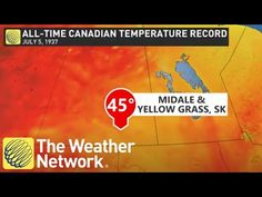 Extreme heat in western Canada could break all-time temperature records - YouTube Weather Network, Western Canada, Extreme Heat, All About Time, Westerns, Youtube, Youtubers, Youtube Movies