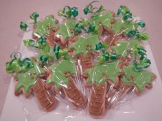 Palm Tree Cookie Favors by MerciBeauCookies.blogspot.com