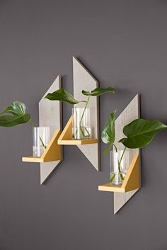 Make a set of attractive wooden wall sconces from a single board. Then add LED candles, plants, or other decorations. Skill level: Beginner