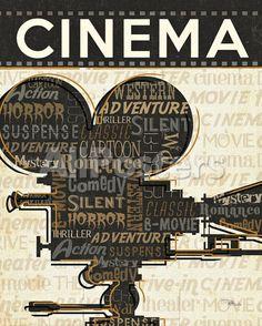 Cinema I - Pela Studio - WA - Please respect the ©opyright! - Only / Nur Euro - canvas on stretcher bar / Leinwand auf 19 mm Keilrahmen cm x 100 cm) Canvas Home, My Canvas, Canvas Art Prints, Canvas Wall Art, Deco Cinema, Cinema Room, Adventure Cartoon, Silent Horror, Etiquette Vintage
